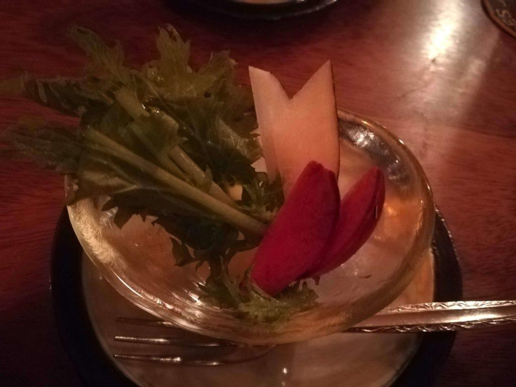 レキュムデジュールのサラダ
