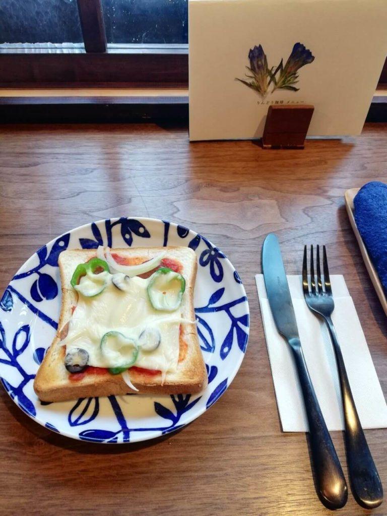 胡桃堂喫茶店のりんどう珈琲とトースト